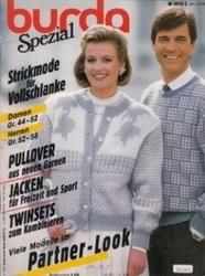 洋雑誌 burda Spezial Strickmode fur Vollschlanke Damen Gr 44-52