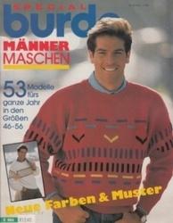 洋雑誌 burda Special Manner Maschen 53 Modelle furs ganze Jahr in den Groben 46-56