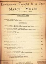 書籍 Enseignement Complet de la Flute Preliminaires Marcel Moyse
