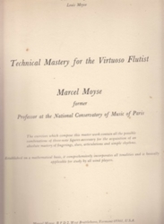 書籍 Technical mastery for the virtuoso flutist Marcel Moyse USA