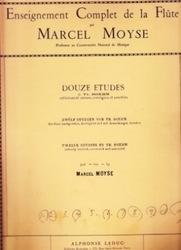 書籍 Enseignement Complet de la Flute Douze Etudes Marcel Moyse