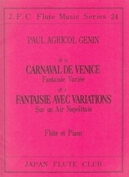 書籍 JFC 24 Carnaval de Venice Op 14 Flute et Piano Paul Agricol Genin JFC