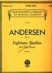 書籍 Schirmer s Library of musical classics vol 1585 Andersen op41 for the flute