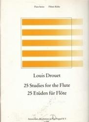 書籍 25 Studies for the Flute 25 Etuden fur Flote Louis Drouet Amsterdam