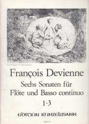 書籍 Francois Devienne Sechs Sonaten fur Flote und Basso continuo 1-3