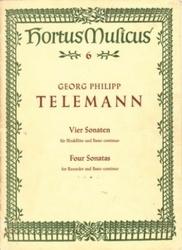 書籍 Georg Philipp Telemann Vier Sonaten Four Sonatas