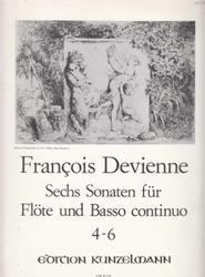 書籍 Francois Devienne Sechs Sonaten fur Flote und Basso continuo 4-6
