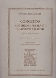 書籍 Concerto in mi minore per flauto e orchestra d archi Saverio Mercadante