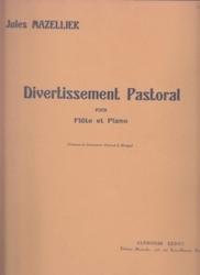 書籍 Divertissement Pastoral pour flute et piano Jules Mazellier Alphonse Leduc