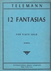 書籍 12 Fantasias for flute solo Telemann IMC NYC