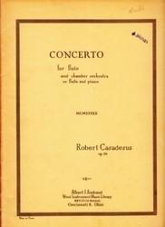 書籍 Concerto for flute and chamber orchestra or flute and piano R・Casadesus op 35