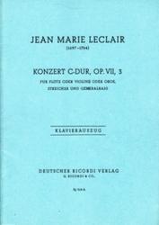 書籍 Jean Marie Leclair Konzert C-Dur Op VII 3 Klavierauszug Ricordi