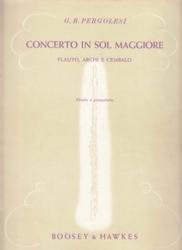 書籍 Concerto in sol maggiore G B Pergolesi Boosey