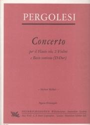 書籍 Pergolesi Concerto per il Flauto solo 2 Violini e Basso continno D-Dur