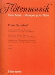 書籍 Flotenmusik flute music musique pour flute Franz Schubert Barenreiter