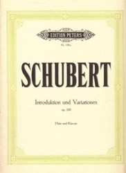 書籍 Schubert Introduktion und Variationen op 160 Nr 156c Edition Peters