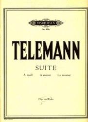書籍 Telemann suite a moll a minor La mineur No 882a Flute and piano