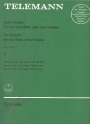 書籍 Telemann sechs sonaten six sonatas op 2 II Barenreiter