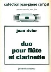 書籍 collection jean-pierre rampal jean rivier duo pour flute et clarinette