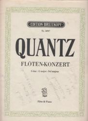 書籍 Quantz floten konzert G dur G major Sol majeur Nr 3097 Flote&piano