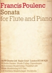 書籍 Francis Poulenc Sonata for flute and piano J&W chester ltd