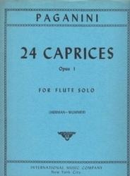 書籍 24 Caprices Opus 1 for flute solo Paganini IMC NYC