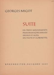 書籍 Suite Georges Migot Barenreiter ausgabe 3225