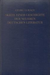 書籍 Skizze einer geschichte der neueren deutschen literatur Georg Lukacs