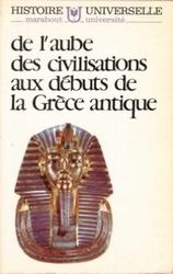 書籍 de l aube des civilisations aux debuts de la Grece antique