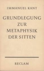 書籍 Grundlegung zur metaphysik der sitten Immanuel Kant Reclam
