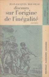 書籍 discours sur l origine de l inegalite extraits Jean Jacques rousseau