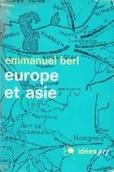 書籍 europe et asie emmanuel berl idees