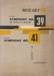 書籍 Mozart Symphony No 39 in e-flat major 41 in c major jupiter