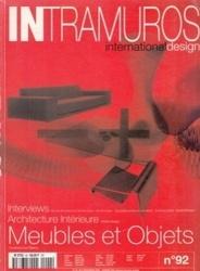 書籍 Intramuros international design No 92 Meubles et objets