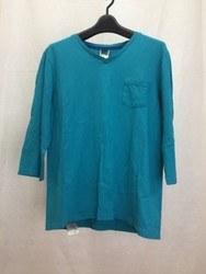 BASECONTROL ベースコントロール 七分袖シャツ 胸ポケット 2 グリーン系/トップス【中古】[☆3]