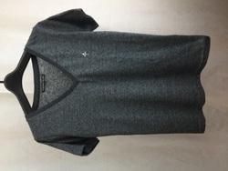 BACKBONE THE BASIC バックボーンザベイシック Vネック 半袖Tシャツ S グレー/トップス【中古】[☆3]