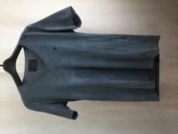 LOUNGE LIZARD ラウンジリザード Vネック ロゴ刺繍 半袖Tシャツ 2 グレー系/トップス【中古】[☆2]