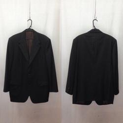 LOUIS VUITTON ルイヴィトン セットアップ スーツ 3Bジャケット スラックス ストライプ ウール 52 ブラック/セットアップ【中古】[☆3]