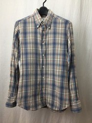 INDIVIDUALIZED SHIRTS インディビジュアライズドシャツ チェック 長袖シャツ 15/33 ブルー×マルチ/シャツ【中古】[☆2]