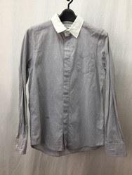 ROBERT GELLER ロバートゲラー 胸ポケット 長袖シャツ 44 グレー系×ホワイト/シャツ【中古】[☆3]