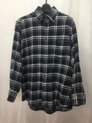 THE SCOTCH HOUSE ザスコッチハウス 胸ポケット チェック 長袖シャツ M ブラック×ブルー×ホワイト/シャツ【中古】[☆3]