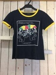 Dsquared2 ディースクエアード jamminプリントTシャツ 半袖Tシャツ S ブラック×マルチ/トップス【中古】[☆3]