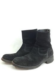 PADRONE Edition パドローネ エディション バックジップ ブーツ スエード ブラック 25cm ブーツ/メンズ・ブーツ【中古】[☆3]