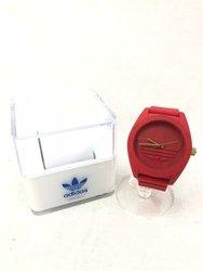 ADIDAS アディダス ADH2714 サンティアゴ 腕時計 アナログ レッド ケース付き/時計【中古】[☆3]