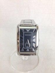 EMPORIO ARMANI エンポリオアルマーニ AR1608 クオーツ シルバー ブラック 腕時計/時計【中古】[☆3]