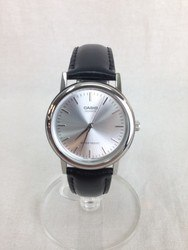 CASIO カシオ MTP-1403 クオーツ ブラック シルバー 腕時計/時計【中古】[☆3]
