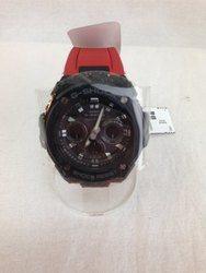 G-SHOCK ジーショック GST-W300G-1A4JF アナログ 電波ソーラー レッド ブラック 腕時計/時計【中古】[☆3]
