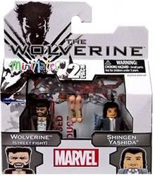 【ウルヴァリン&シンゲン】Marvel MiniMates Figure 2Pack Wolverine(Street Fight) Yasida Shingen【中古】[☆3]