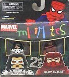【ホワイトタイガー&ハンドニンジャ】Marvel MiniMates Figure 2Pack White Tiger Hand Ninja【中古】[☆3]