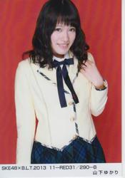 【AKB48生写真】山下ゆかり SKE48×B.L.T.2013 11-RED31/290-B【中古】[☆4]
